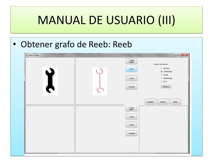 MANUAL DE USUARIO (III)