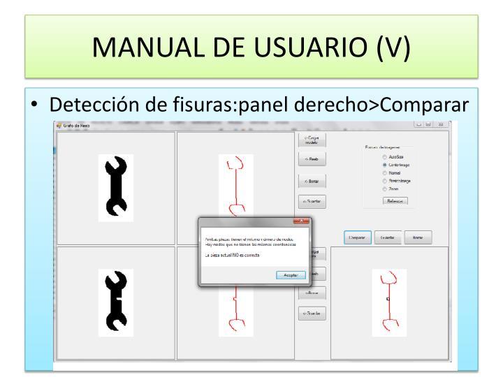 MANUAL DE USUARIO (V)