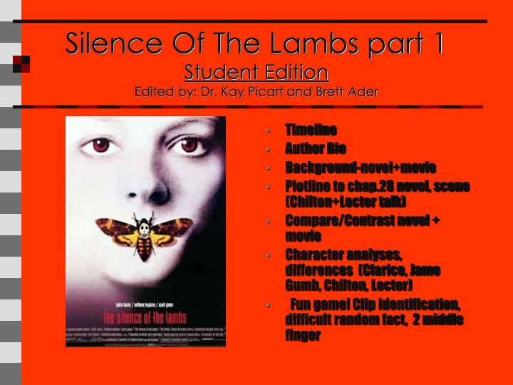 a critical analysis of silence of the lambs The silence of the lambs summary & study guide includes detailed chapter summaries and analysis, quotes, character descriptions, themes, and more.