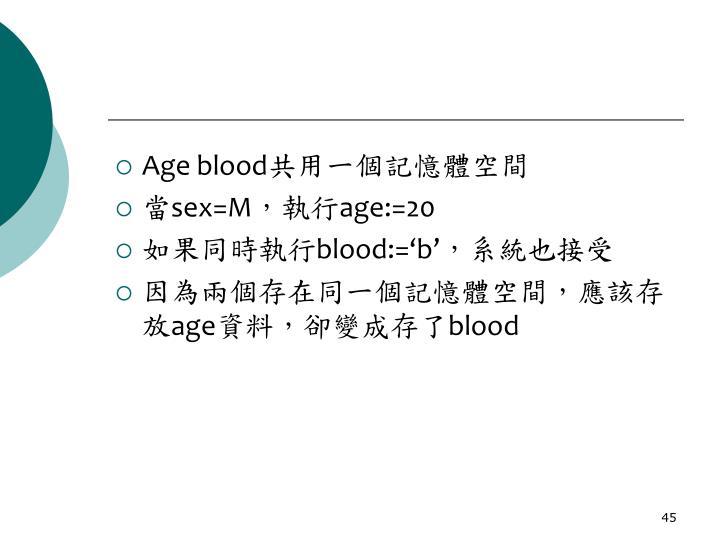 Age blood