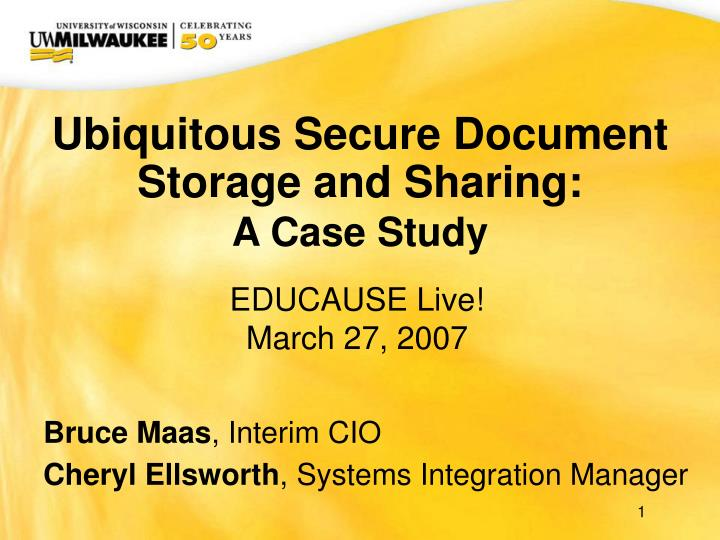 ubiquitous secure document storage and sharing a case study n.