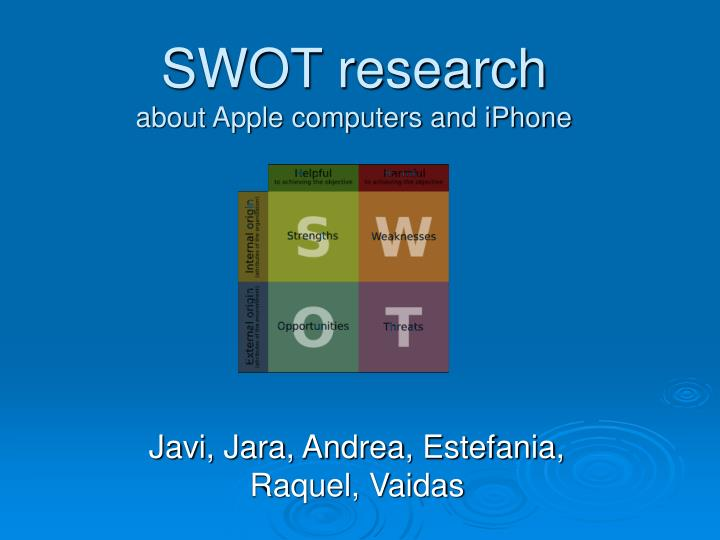 PPT - SWOT research about Apple computers and iPhone