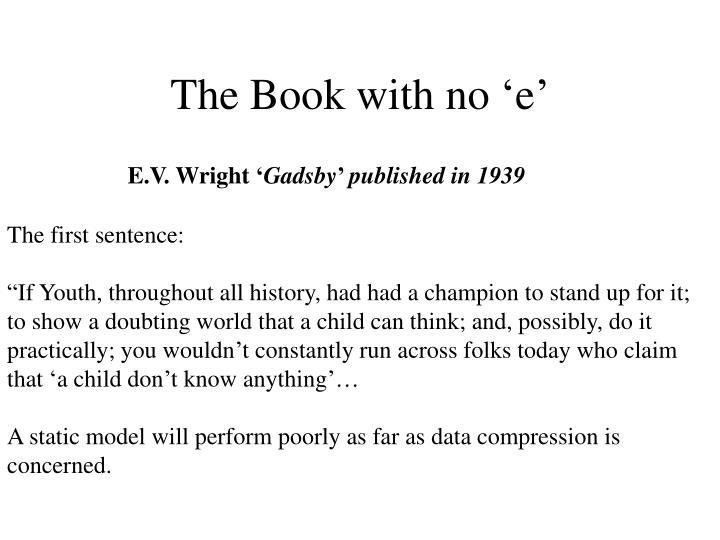 The Book with no 'e'