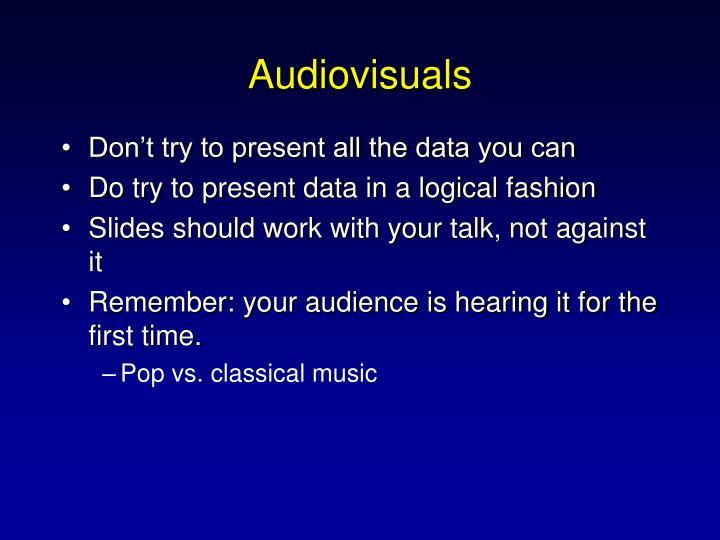 Audiovisuals