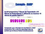 exemplo raid n