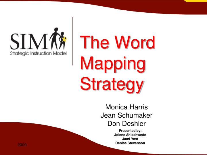 the word mapping strategy n.
