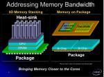 addressing memory bandwidth