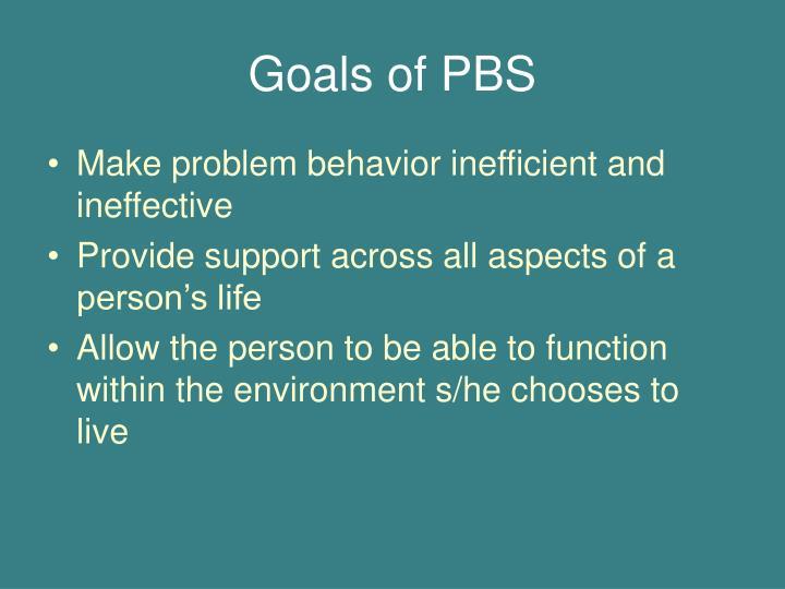 Goals of pbs