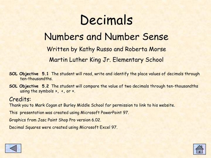 Decimals