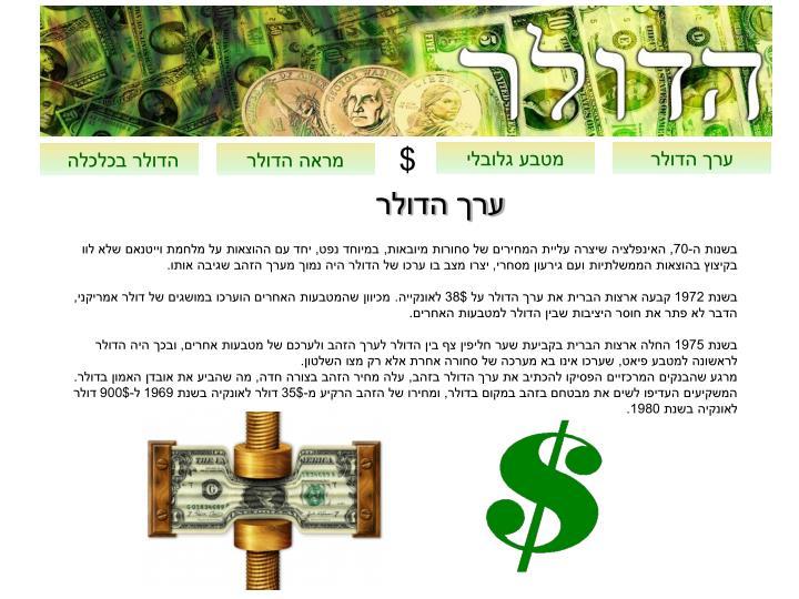 ערך הדולר