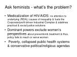ask feminists what s the problem