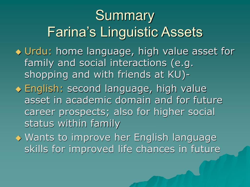 PPT - Linguistic Inequalities: The Urdu-English Medium Divide in