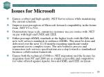 issues for microsoft