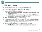 j2ee and linux