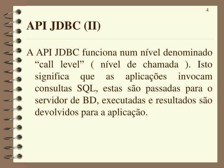 API JDBC (II)