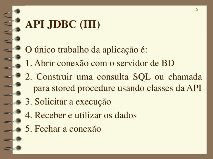 API JDBC (III)