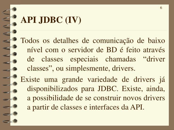API JDBC (IV)