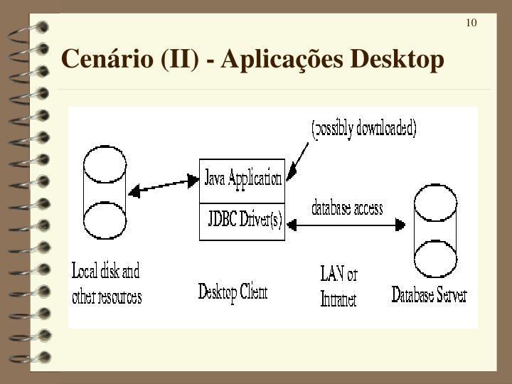 Cenário (II) - Aplicações Desktop