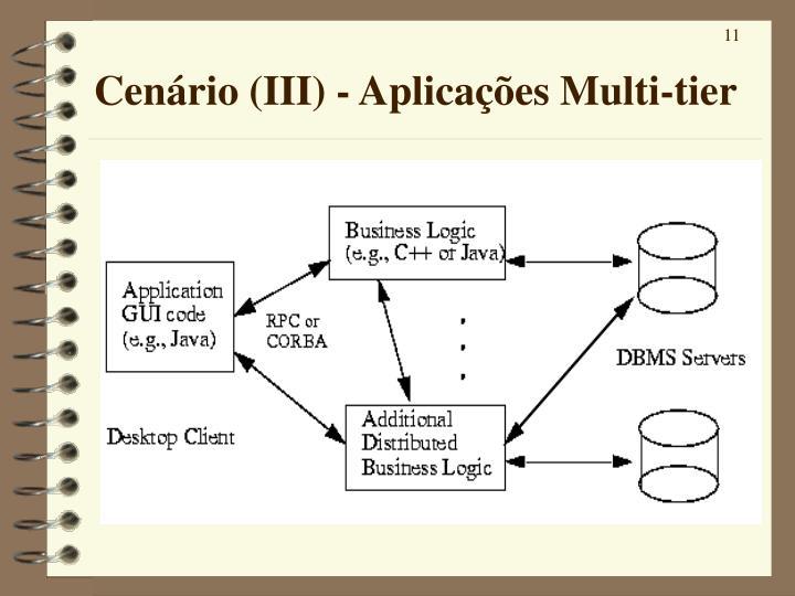 Cenário (III) - Aplicações Multi-tier