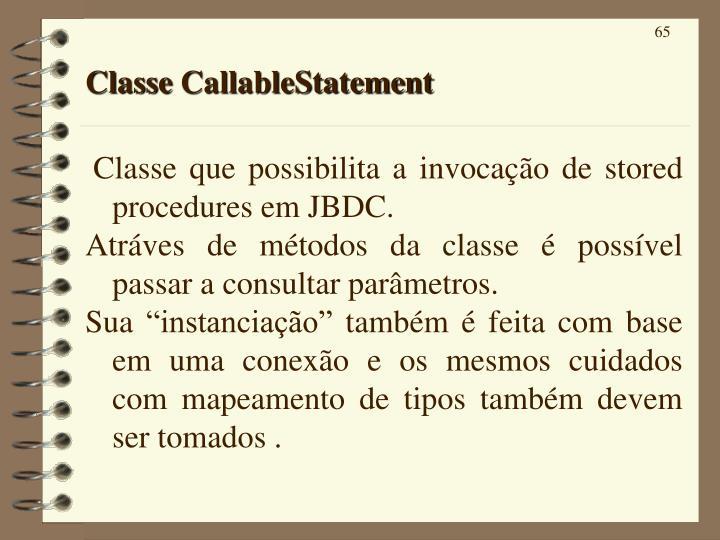 Classe CallableStatement
