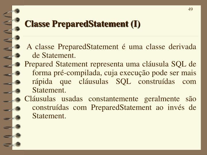 Classe PreparedStatement (I)