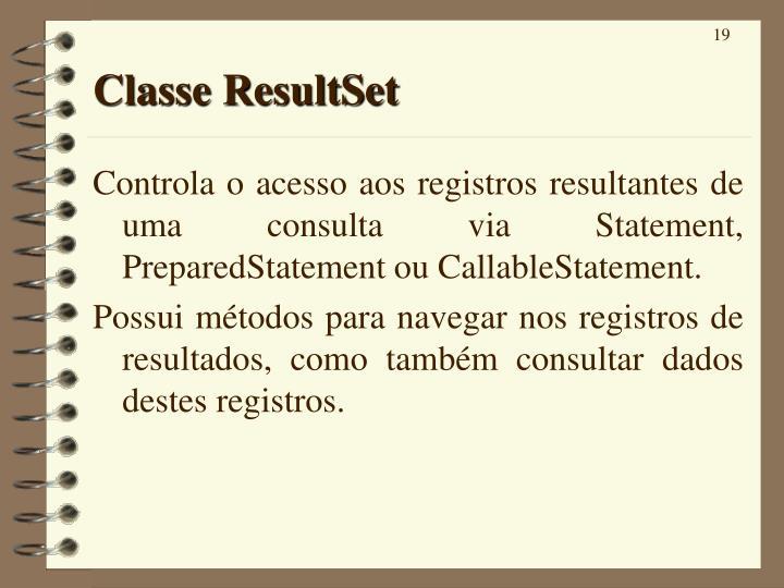 Classe ResultSet