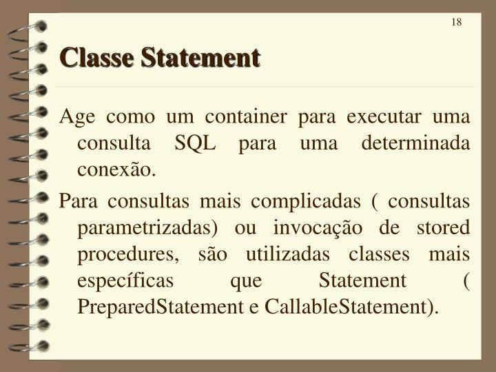 Classe Statement