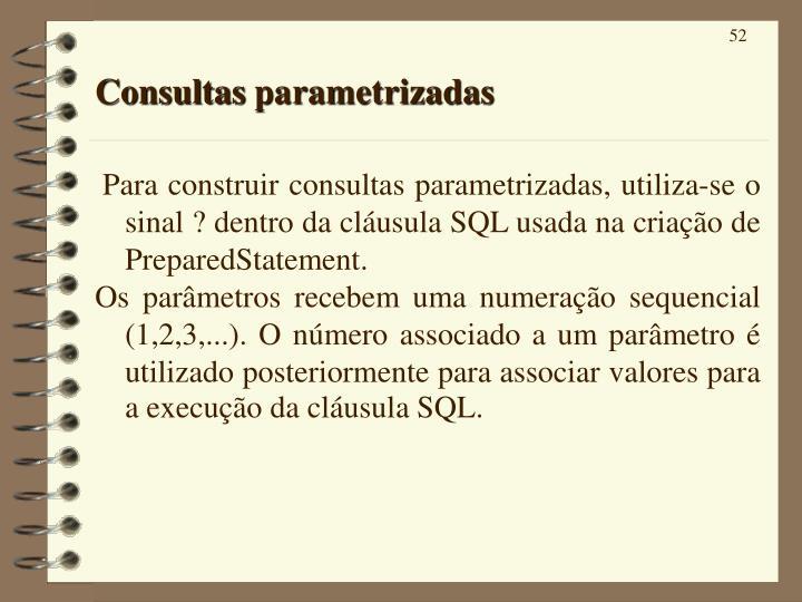 Consultas parametrizadas