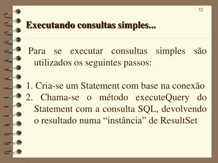 Executando consultas simples...