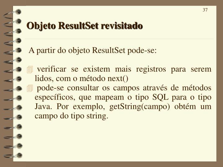 Objeto ResultSet revisitado