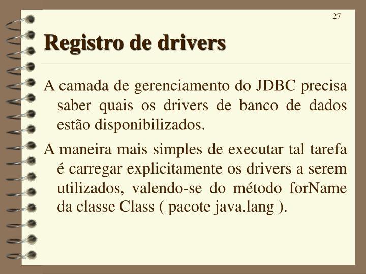 Registro de drivers