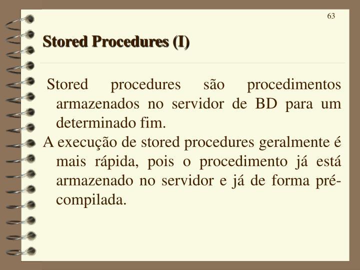 Stored Procedures (I)
