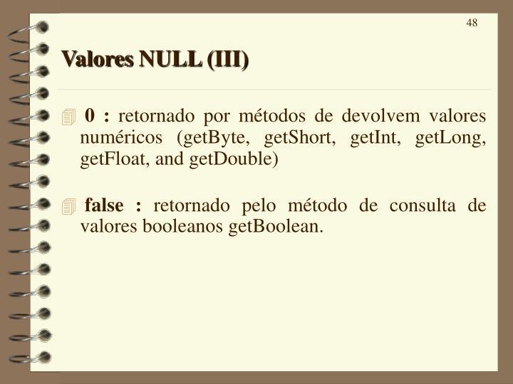 Valores NULL (III)
