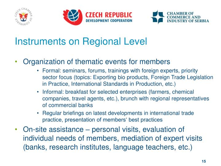 Instruments on Regional Level