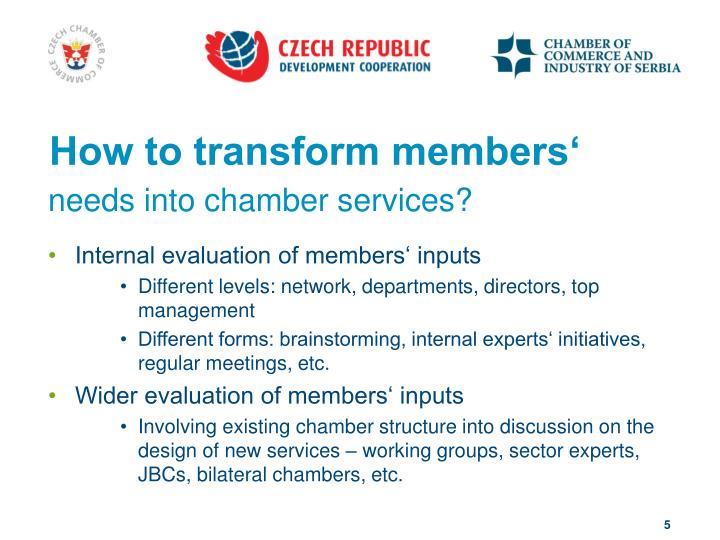 How to transform members'