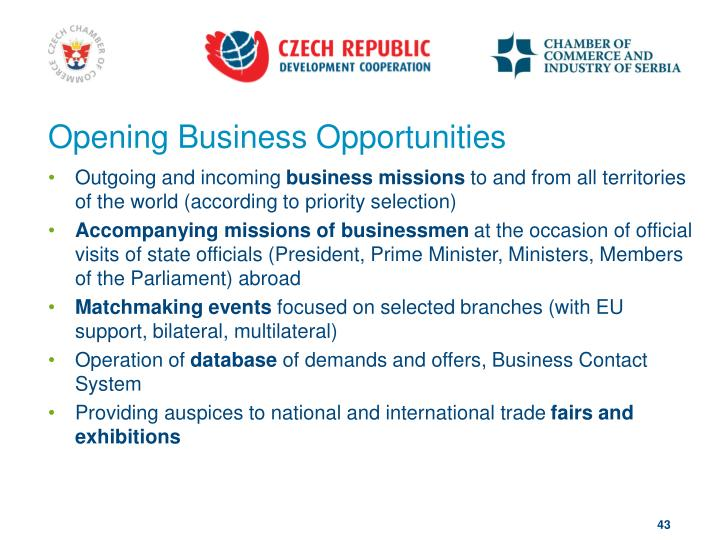 Opening Business Opportunities