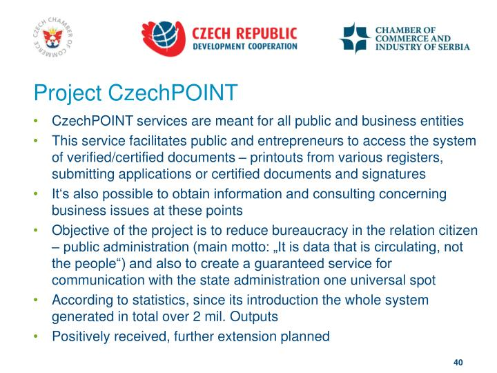 Project CzechPOINT