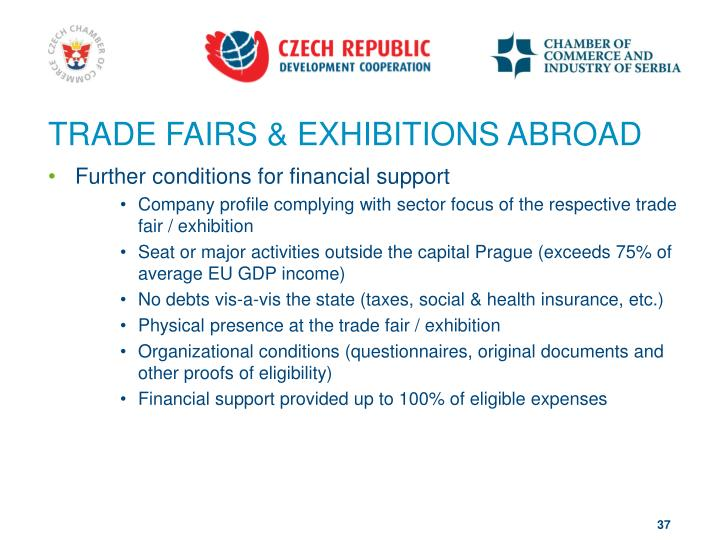 TRADE FAIRS & EXHIBITIONS ABROAD