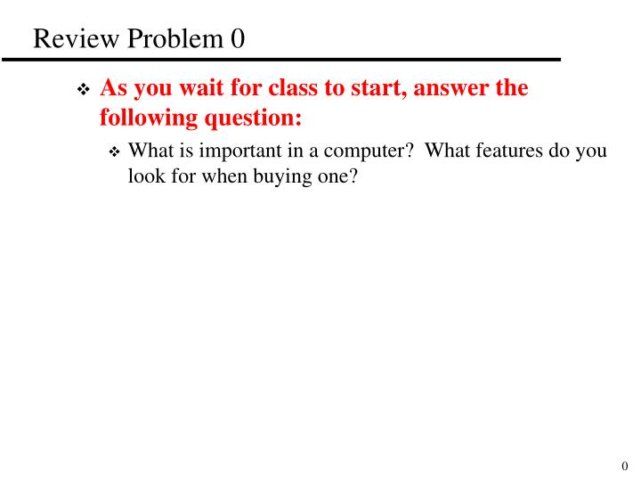 review problem 0 n.