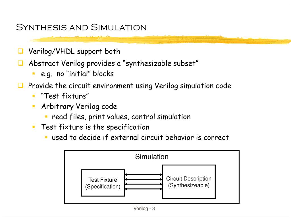 PPT - So you think you want to write Verilog? PowerPoint