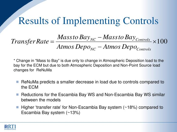 Results of Implementing Controls