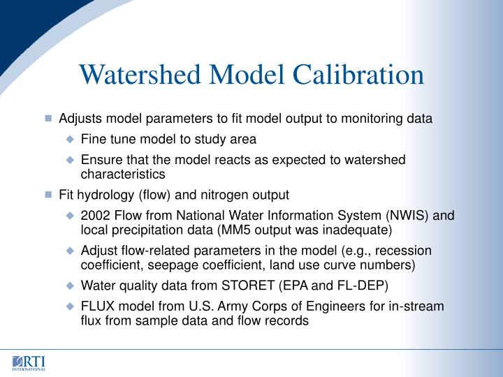 Watershed Model Calibration