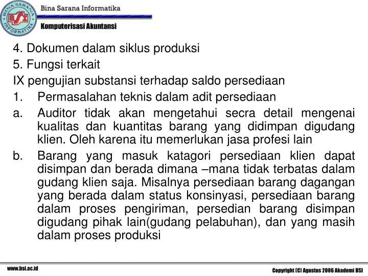 4. Dokumen dalam siklus produksi
