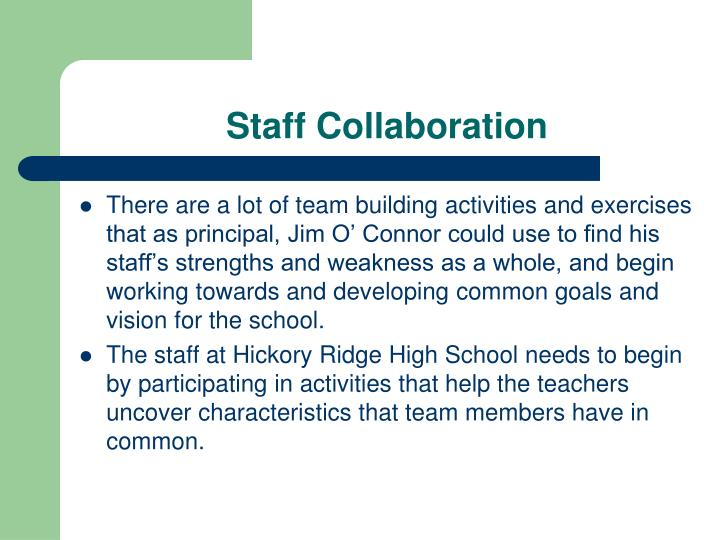 Staff Collaboration