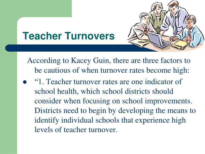 Teacher Turnovers