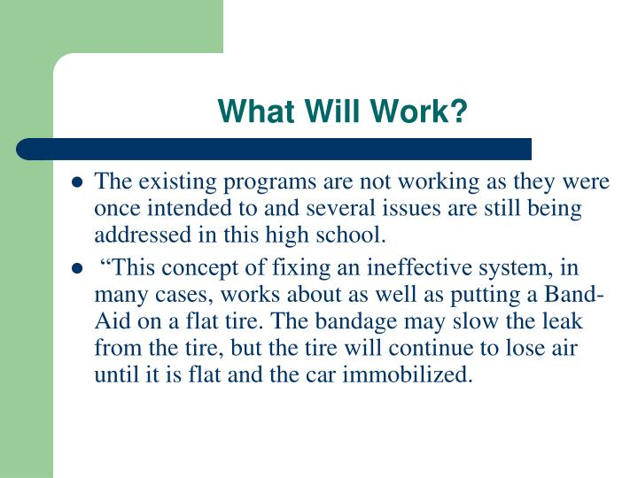 What Will Work?