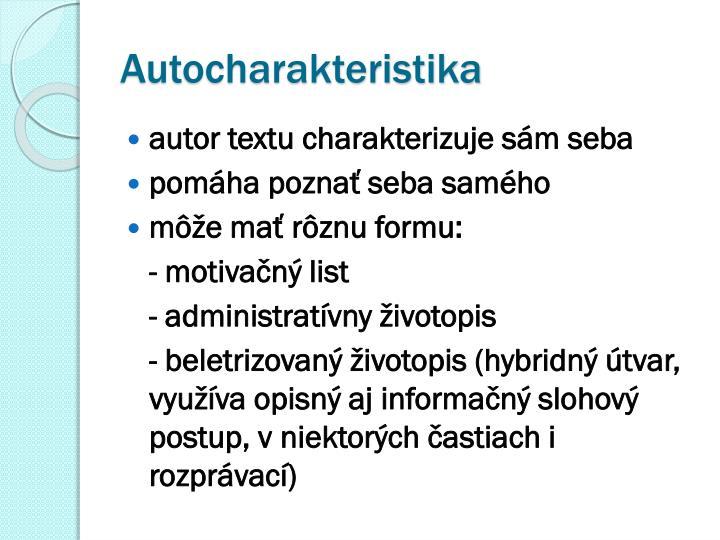 Ppt Charakteristika Powerpoint Presentation Id 5162656