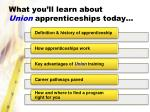 what you ll learn about union apprenticeships today