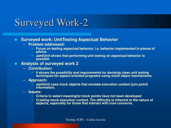 Surveyed Work-2