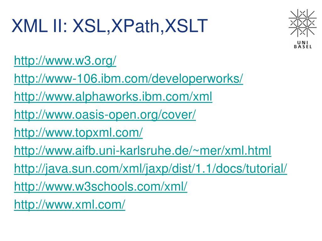 PPT - XML II: XSL,XPath,XSLT PowerPoint Presentation - ID